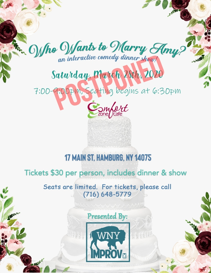 Who Wants to Marry Amy postponed